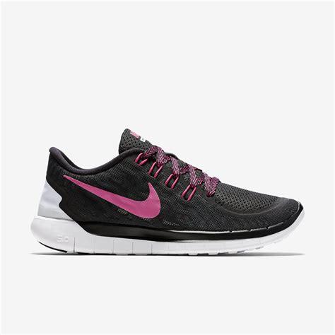 nike womens free 5 0 running shoes black pink