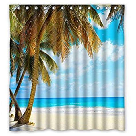 beach scene curtains com summer palms vacation beach scene bathroom