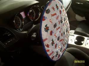 Steering Wheel Cover Sewing Pattern You To See Quilted Steering Wheel Cover On Craftsy