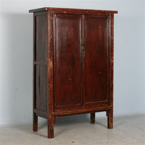 antique painted lacquered chinese cabinet armoire circa 1780