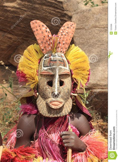 dogon mask stock photo image  decoration dogon straw