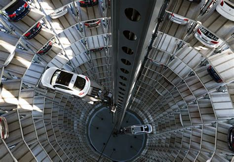 Volkswagen Parking Garage volkswagen parking lot towers at autostadt