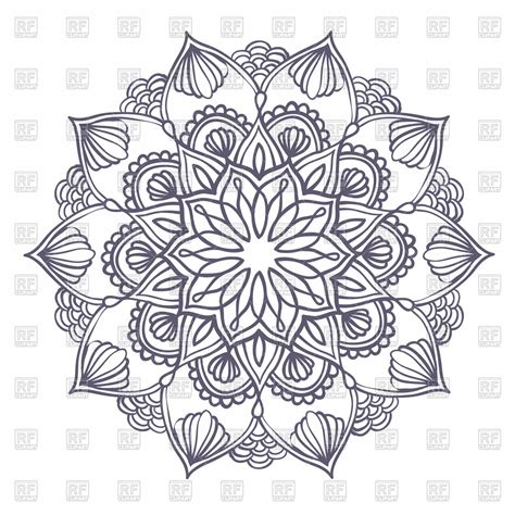 pattern  floral elements ornamental mandala
