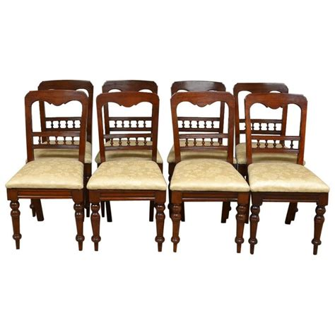 set   victorian mahogany antique dining chairs  sale