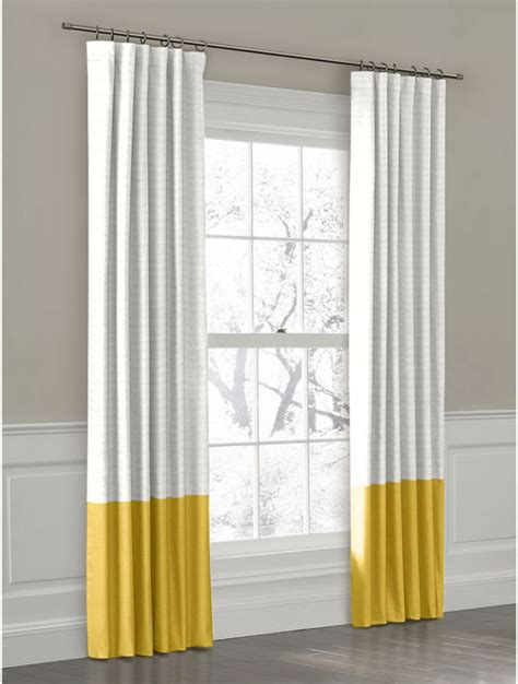 Yellow convertible color block drapery panel curtains new york by loom decor