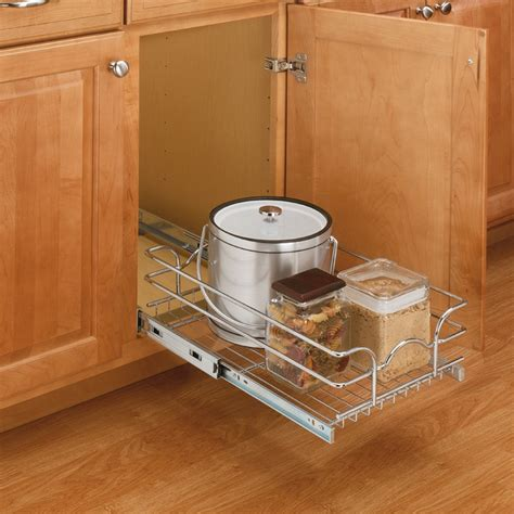 Rev A Shelf 5wb1 1222 Cr by Rev A Shelf 12 Quot Single Pull Out Basket Chrome 5wb1 1222 Cr