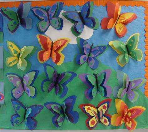 How To Make Butterflies Out Of Construction Paper - paper scissors glue color theory butterflies