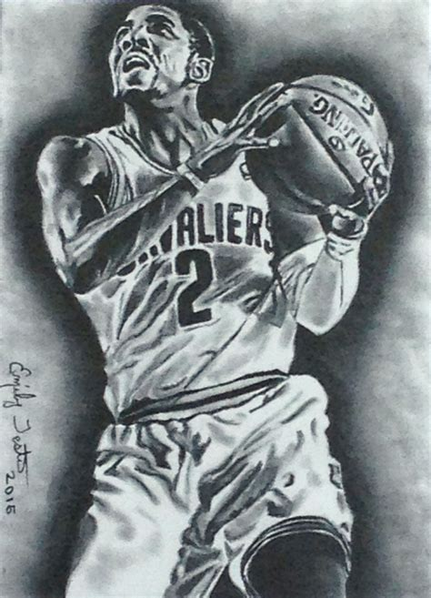 sketch book of washington irving kyrie irving cavaliers nba basketball sketch card by