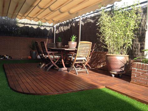 imagenes jardines terrazas http www quejardines com dise 241 o de terraza con c 233 sped