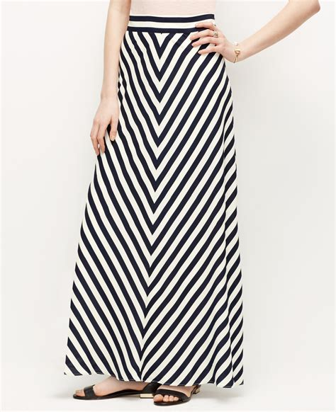 Blue Stripe Skirt By Gaudi mitered stripe maxi skirt in blue lyst