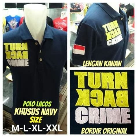 Kaos Polo Size Xxxl Kaos Turn Back Crime Size Xxxl jual beli kaos polo grade ori turn back crime baru