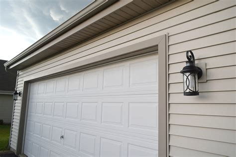 garage door light curb appeal challenge adding lights and decor our house