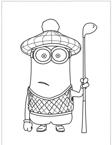 minion golf coloring page despicable me minion coloring pages coloring home