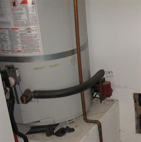 water heater recirculation not functioning