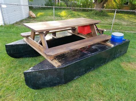 picnic table pontoon pontoon boat picnic table 8 steps with pictures