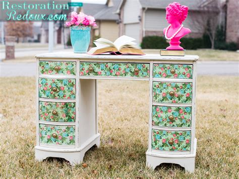 Decoupage A Desk - vintage decoupaged desk daily dose of style