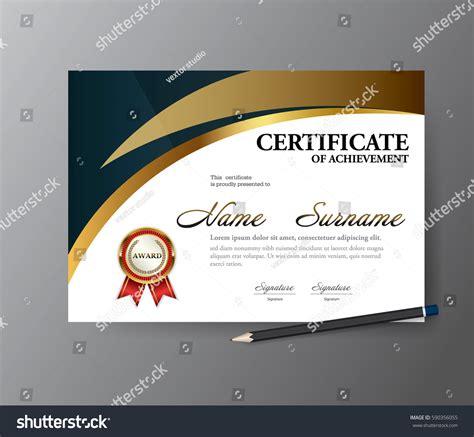 certificate template size certificate templatea4 size diploma vector illustration