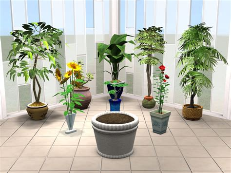 empire sims 3 3 small potted plants by lisen801 mod the sims fanciful forest plant pots