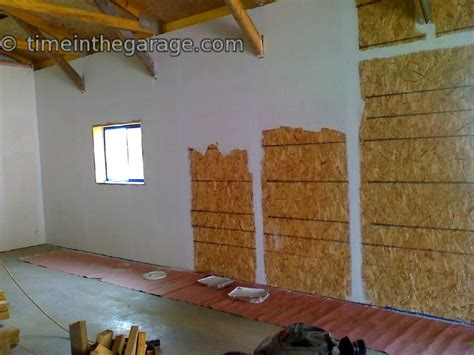 Finish Garage Walls by Garage Finishing And Sheeting Time In The Garage