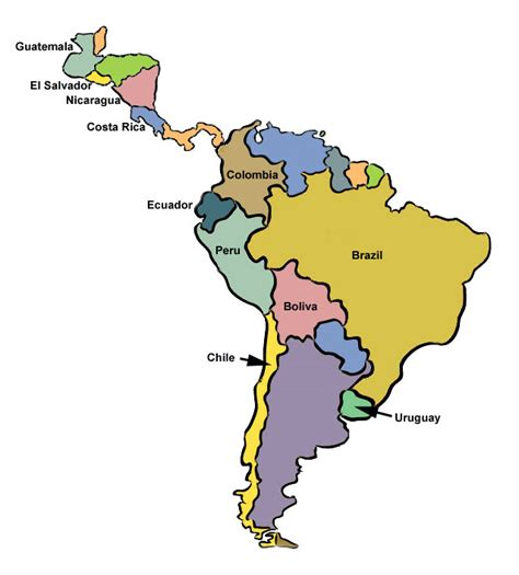 south america map and central america labeled south america map clipart best