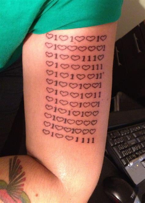 binary tattoo girly binary