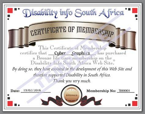 bronze certificate template bronze level advert disability info sa