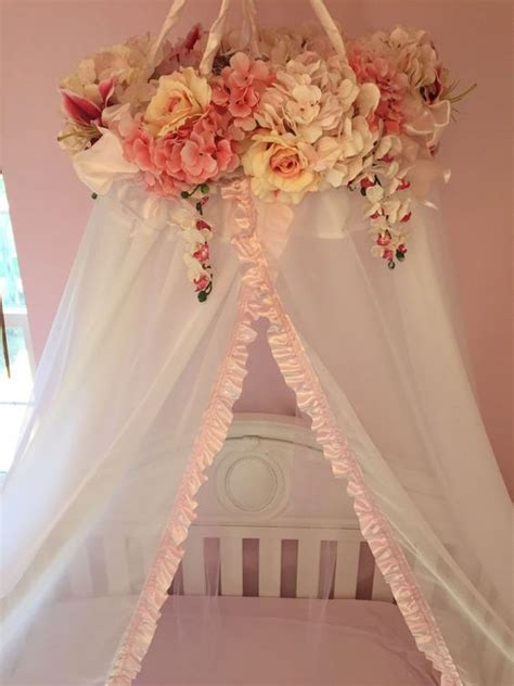 baby canopy for crib handmade floral baby crib canopy and flower