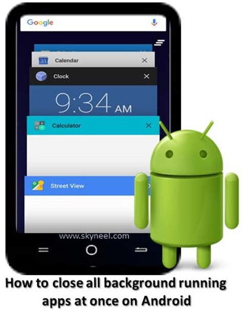 how to all apps on android how to all background running apps at once on android
