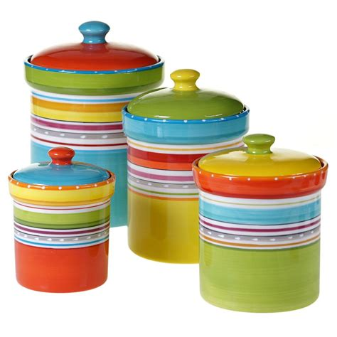 Colorful Kitchen Canisters Sets by Decor Copper Hammered Canister Set 4 843