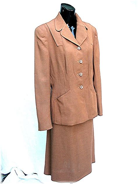 1940s 1950s s sacony suit 40s 50s brown palm