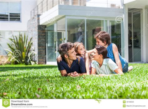 house happy family in big house stock image image of home family 40139023