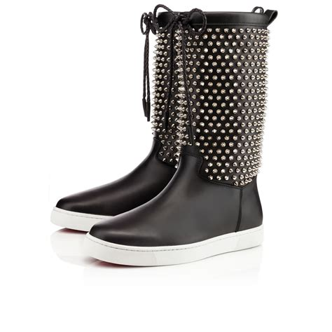 christian louboutin naza spikes in black for lyst