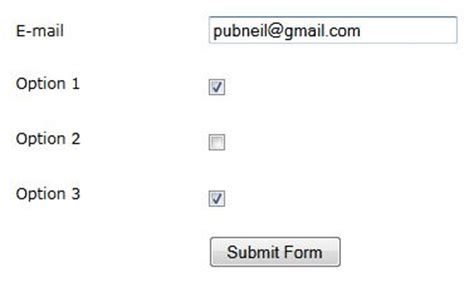 new form checkbox not submitted form