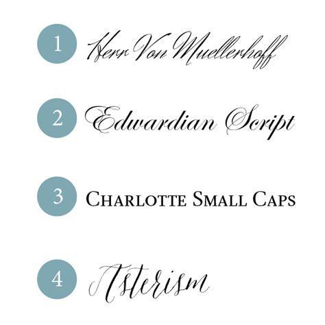 Typeface Tuesday /// Popular Wedding Fonts   Design Fixation