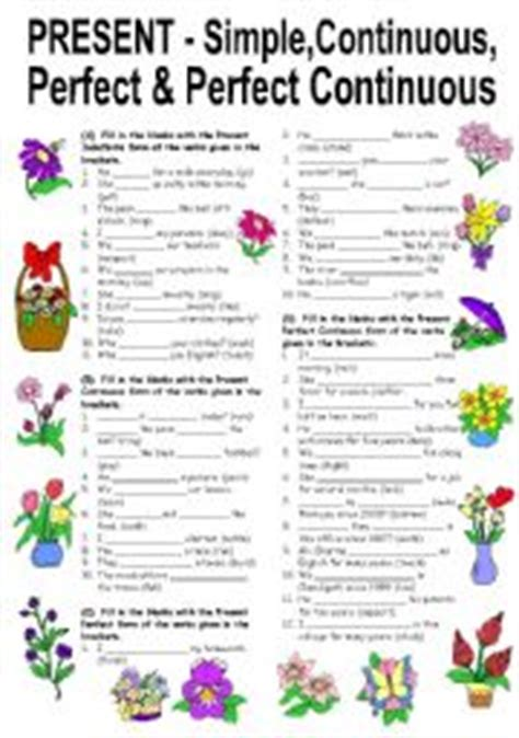 english teaching worksheets: present perfect simple/continuous