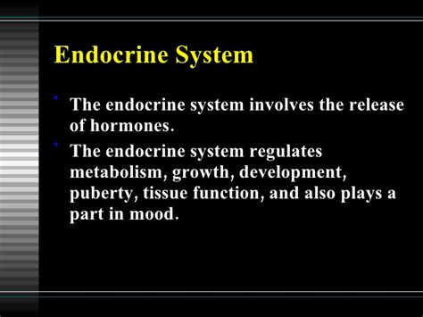 section 39 1 the endocrine system body body body