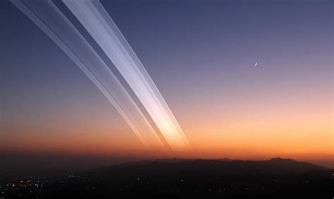 if the earth had rings like saturn what would earth look like with rings universe today