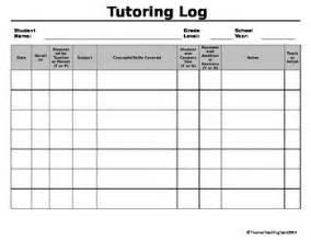 tutoring log {editable} by thomas teaching tools | tpt
