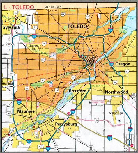 toledo usa map map of toledo ohio world map 07
