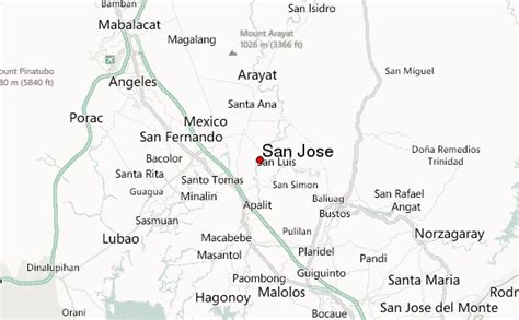 san jose location on map san jose philippines central luzon location guide