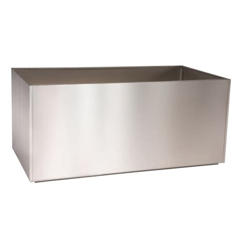 stainless steel trough planter llc