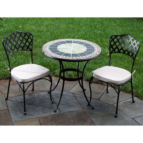 Ponte Mosaic Patio Bistro Set Patio Dining Sets At Hayneedle Patio Furniture Bistro