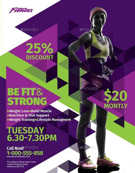 download the fitness amp sport flyer template