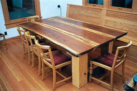 Plank Table by Redwood Plank Dining Table Dining Tables Seattle By