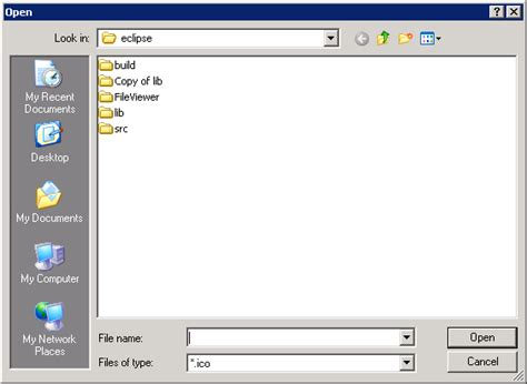 java pattern file extension set filterextensions for filedialog filedialog 171 swt