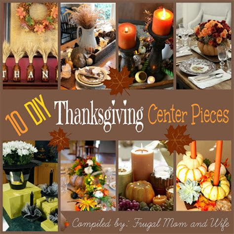 frugal mom and wife 10 diy thanksgiving center pieces