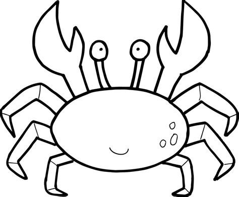 coloring book page template cute crab template