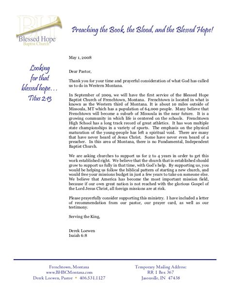 thank you letter to pastors info letter to pastor