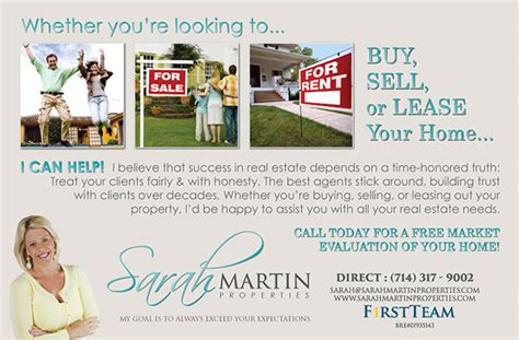 realty executives buy or sell your home with us buy sell lease postcard prospecting on behance