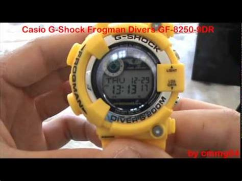 Casio G Shock Gf 8230e 9dr casio g shock frogman divers gf 8250 9dr yellow unboxing